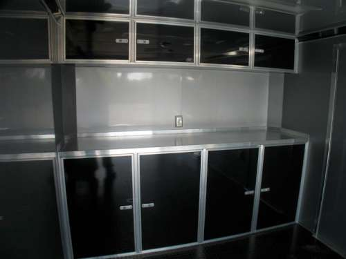 E169260 #005 Shot of Black Upper and Lower Cabinets