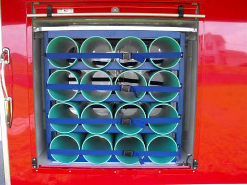 E169578 #006 Exterior Access of Air Bottle Storage Rack